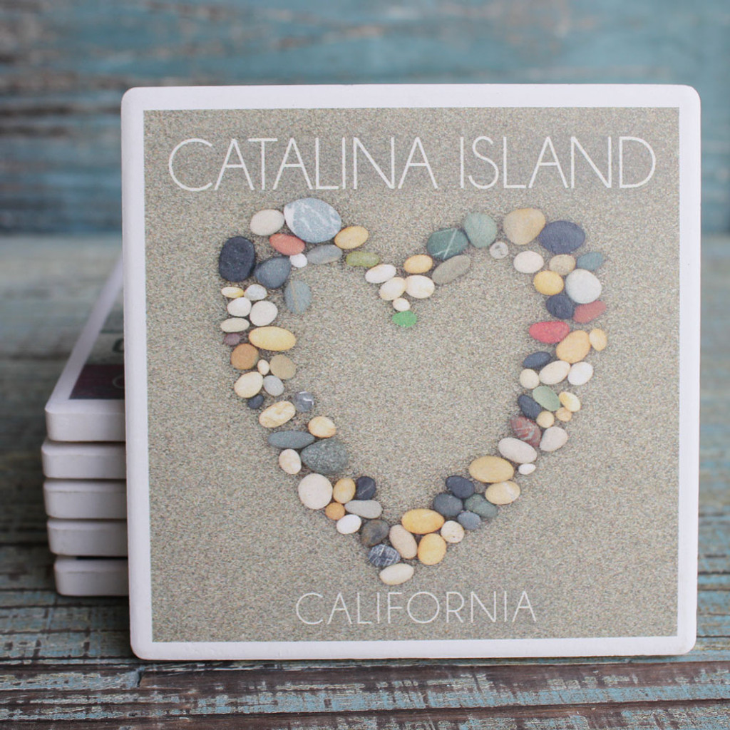 Catalina Island Stone Heart Coaster
