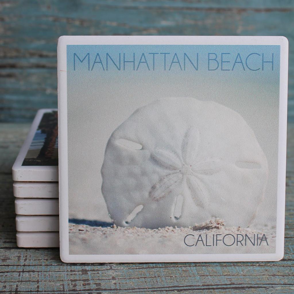 Manhattan Beach Sand Dollar Coaster