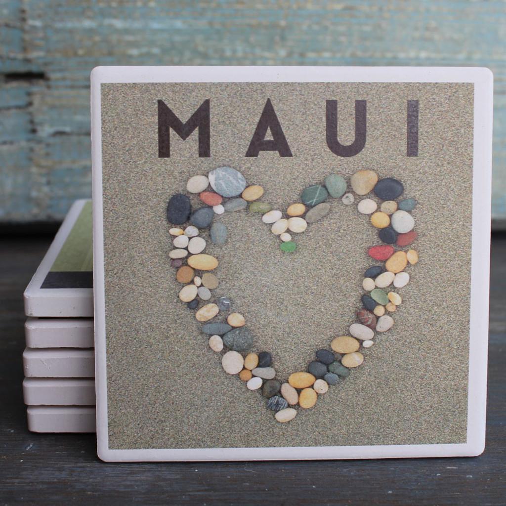 Maui Stone Heart coaster
