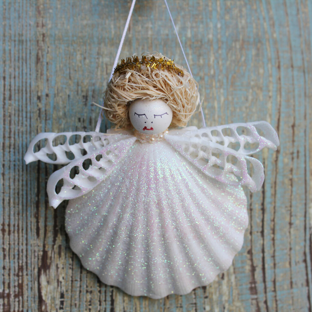 Blonde Halo Shell Angel