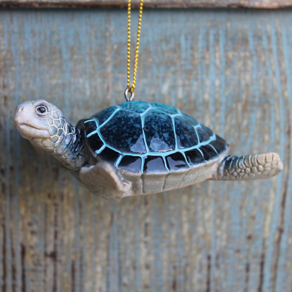 Blue Sea Turtle Ornament