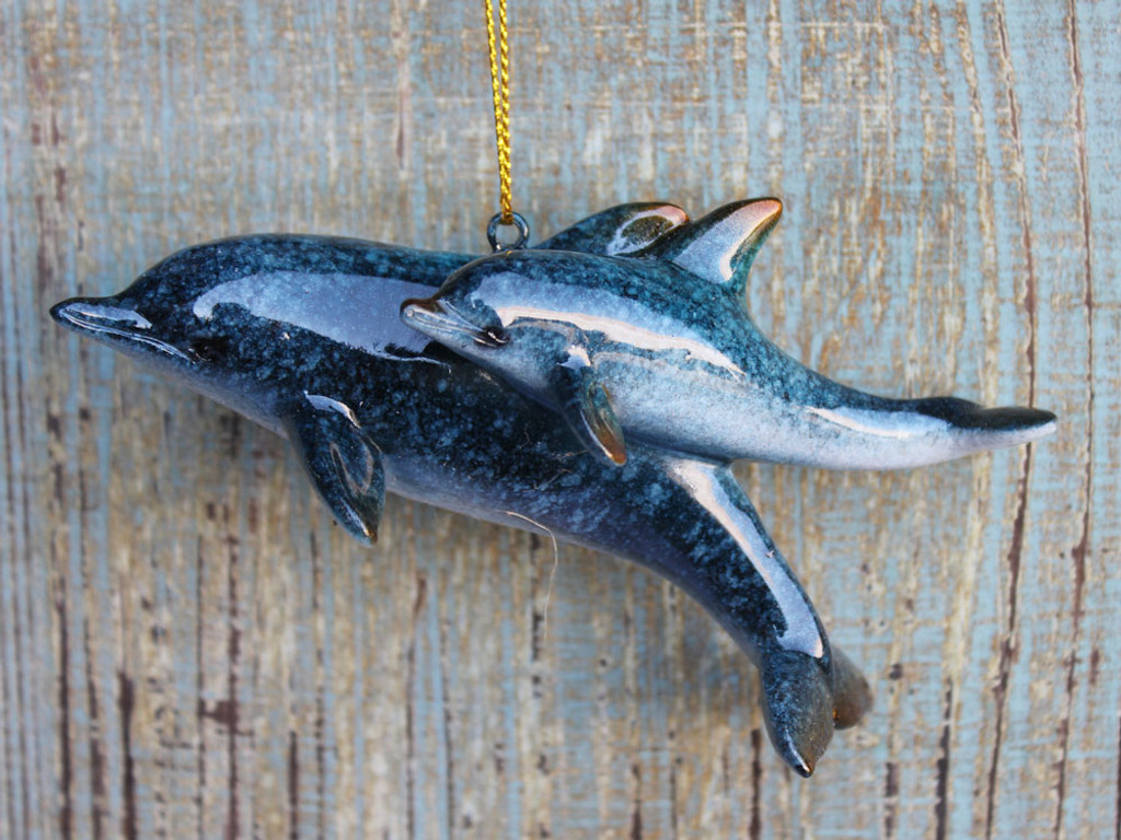 Mom & Baby Dolphin Ornament
