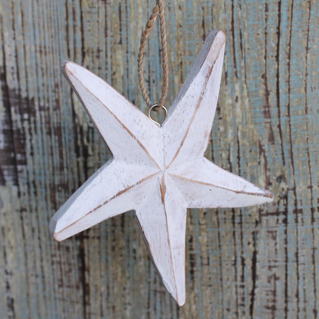 Wood Starfish Ornament