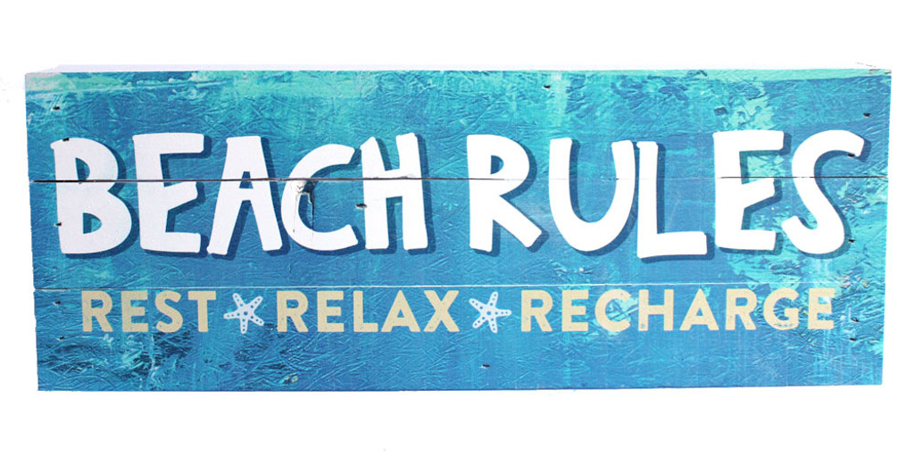 Beach Rules Made in the USA Sign