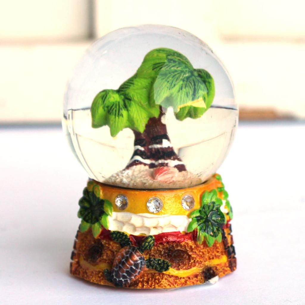 Mini Palm Tree Water Globe