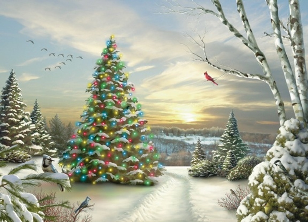 Lighted Tree Christmas Card