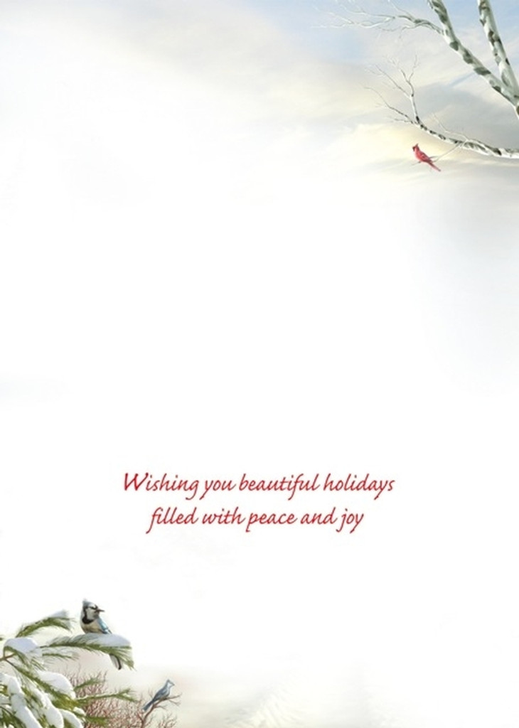 Wishing you beautiful holidays filled with peace and joy