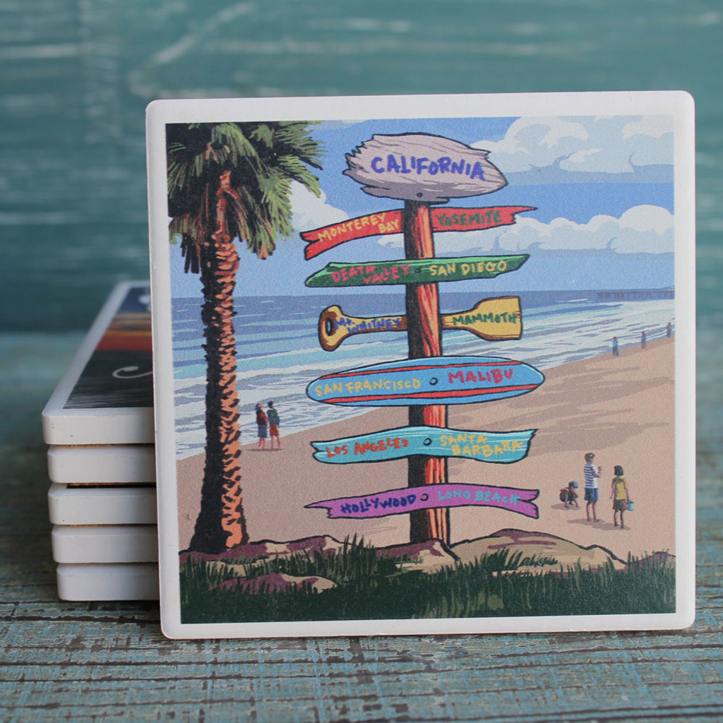 California Destination Signs Coaster