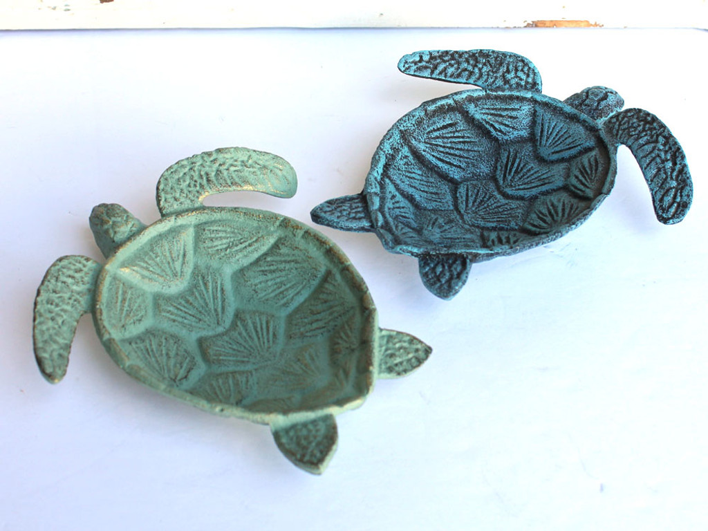 Cast Iron Sea Turtle Dishes