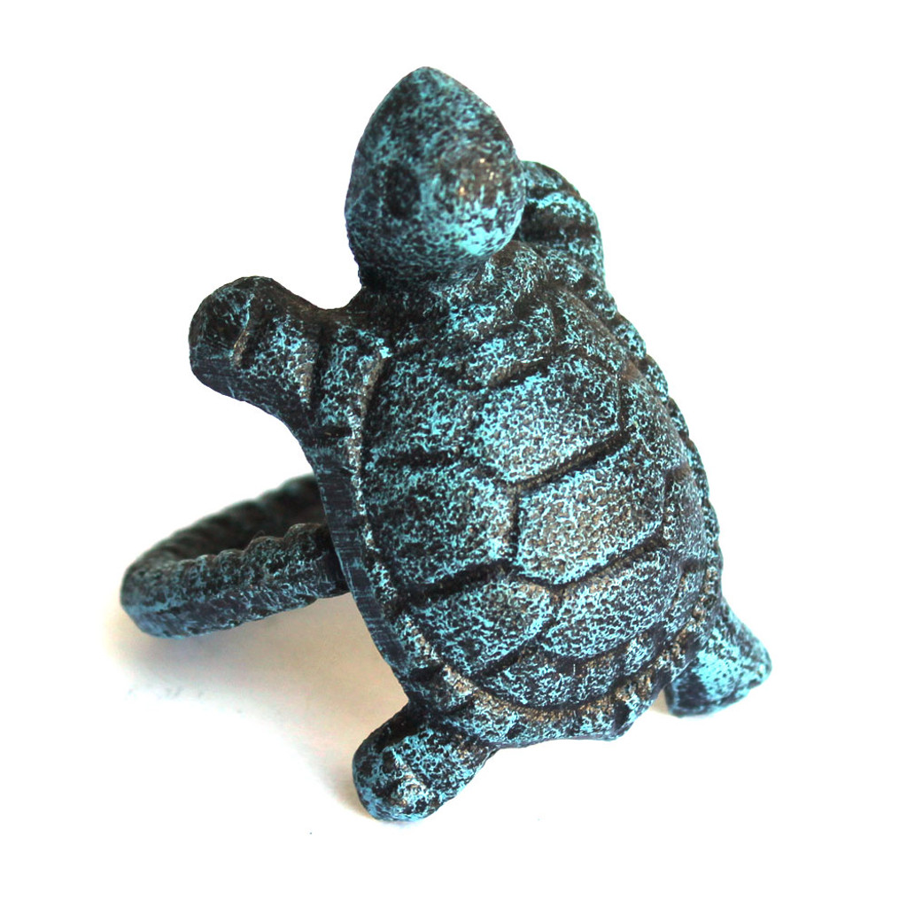 Blue Turtle Cast Iron Napkin Ring