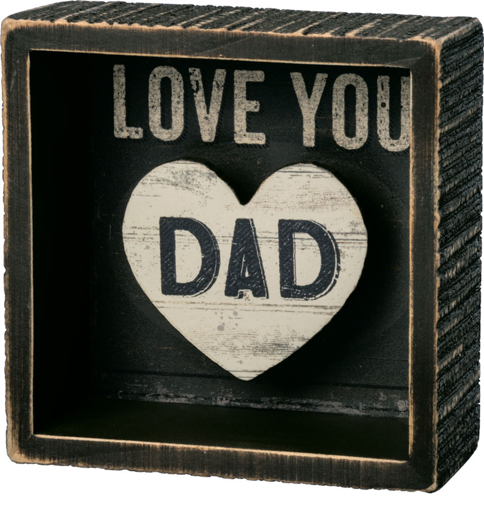 Love You Dad Shadowbox Sign