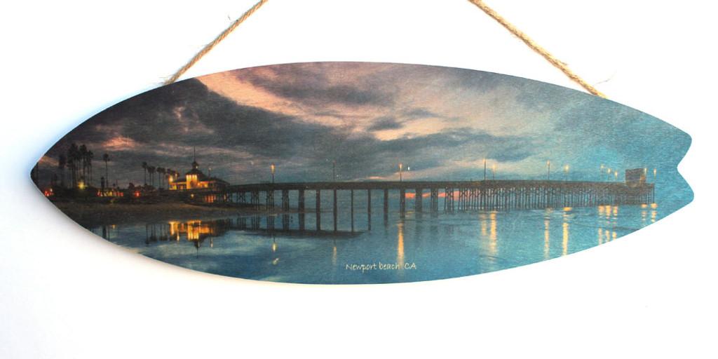 Newport Beach Pier at Night