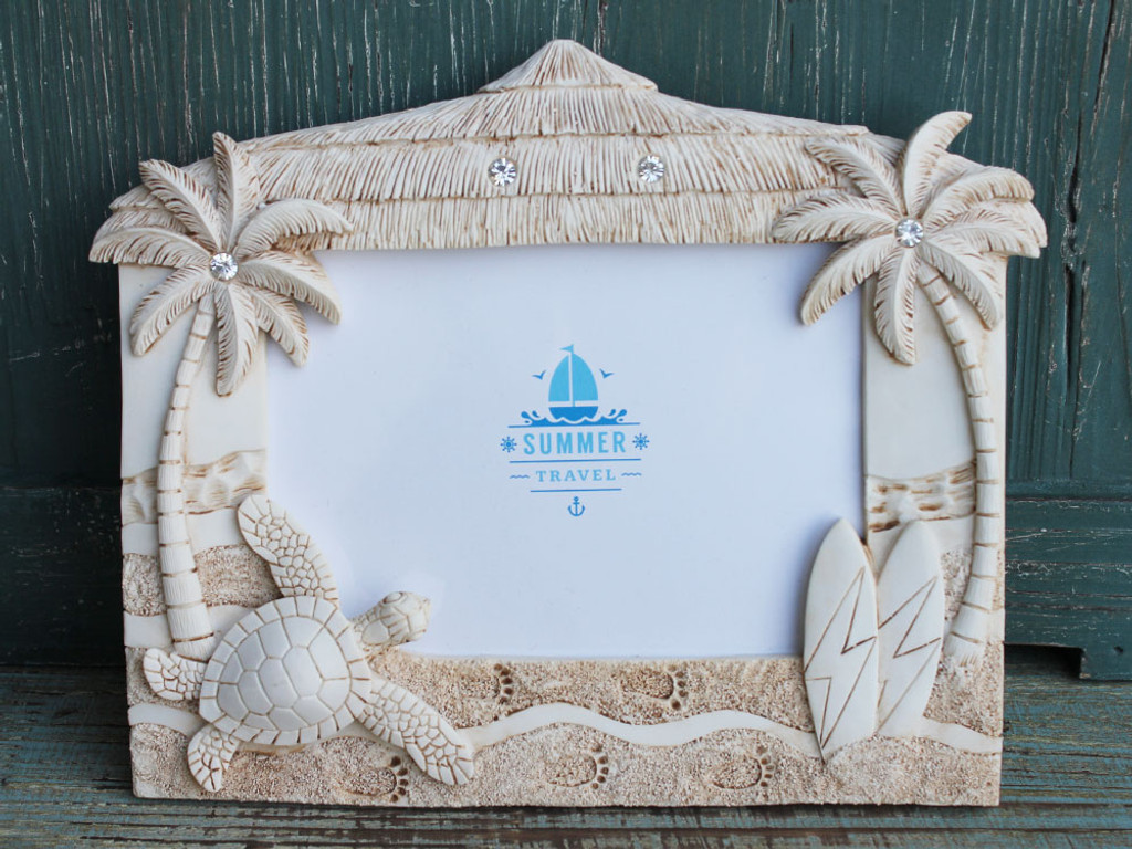 Tiki Hut Picture Frame