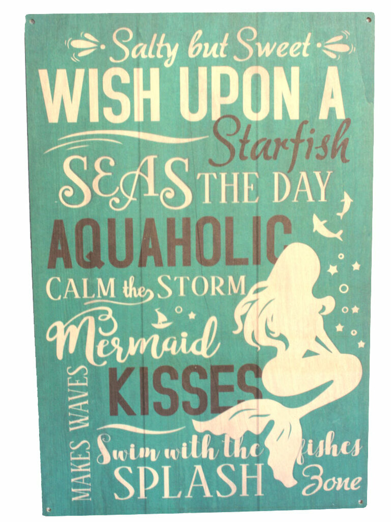 Mermaid Typography Wood Sign