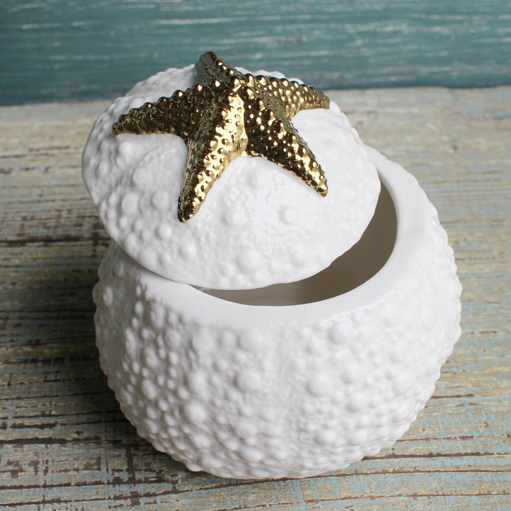 Ceramic Starfish Box - Open