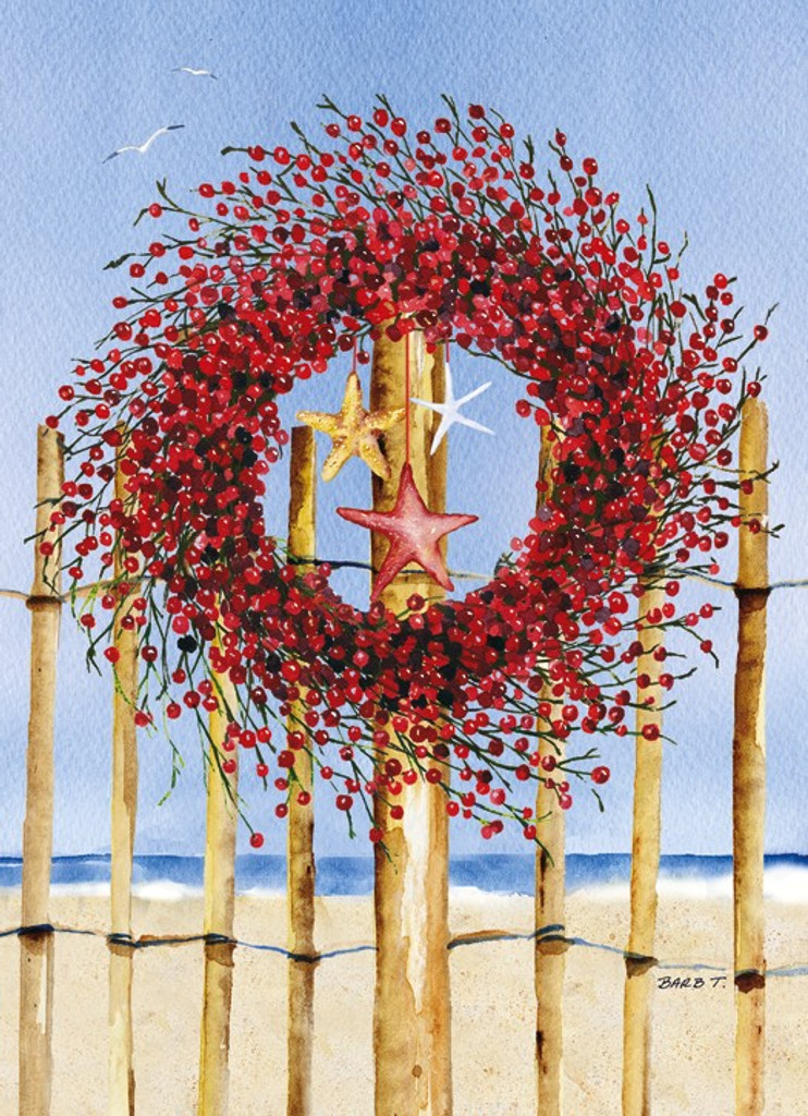 Coastal Wreath Christmas Cards