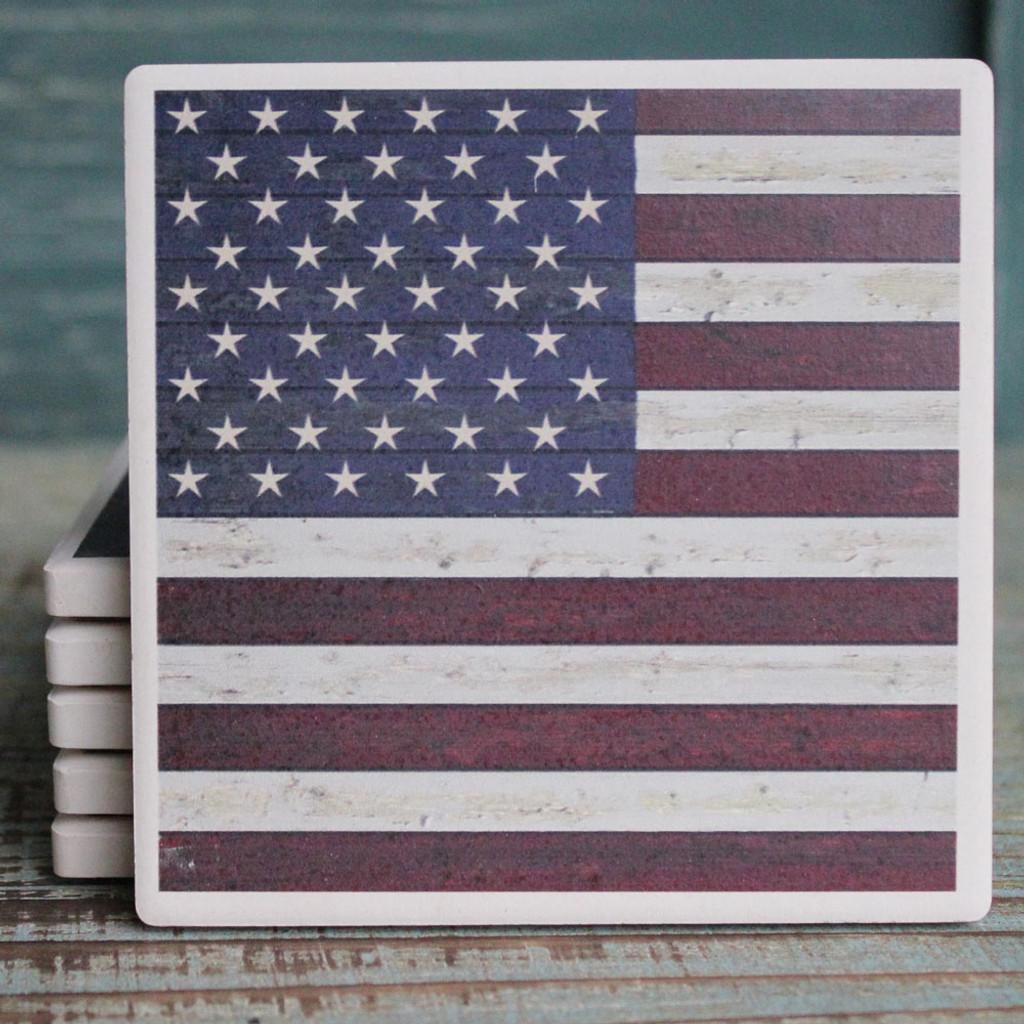 Distressed American Flag Coaster