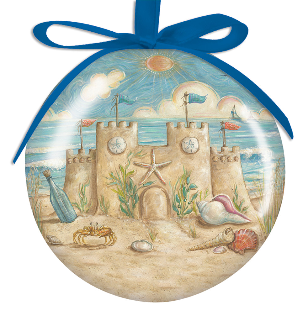 Sand Castle Ball Ornament