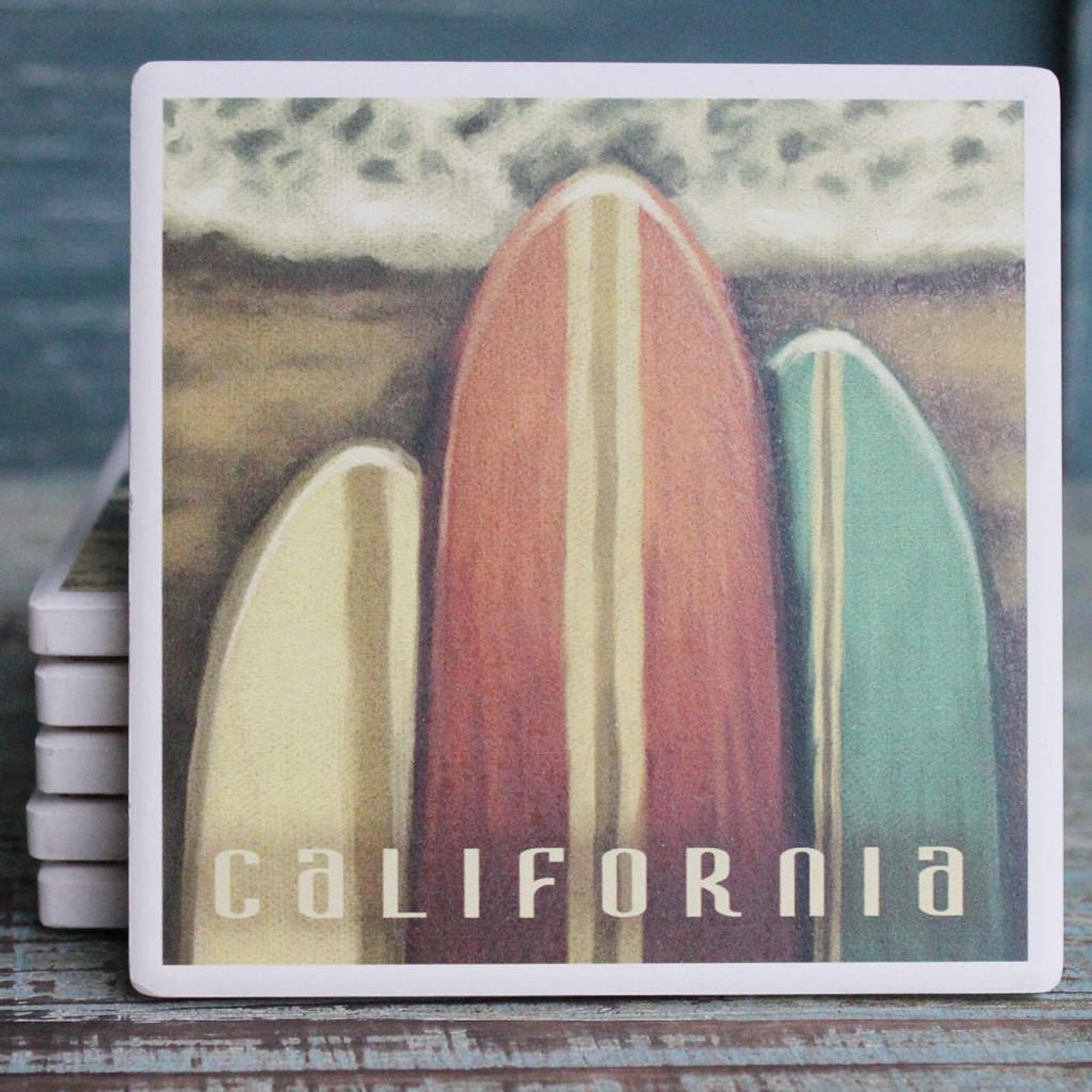 Three Surfboards California Coaster