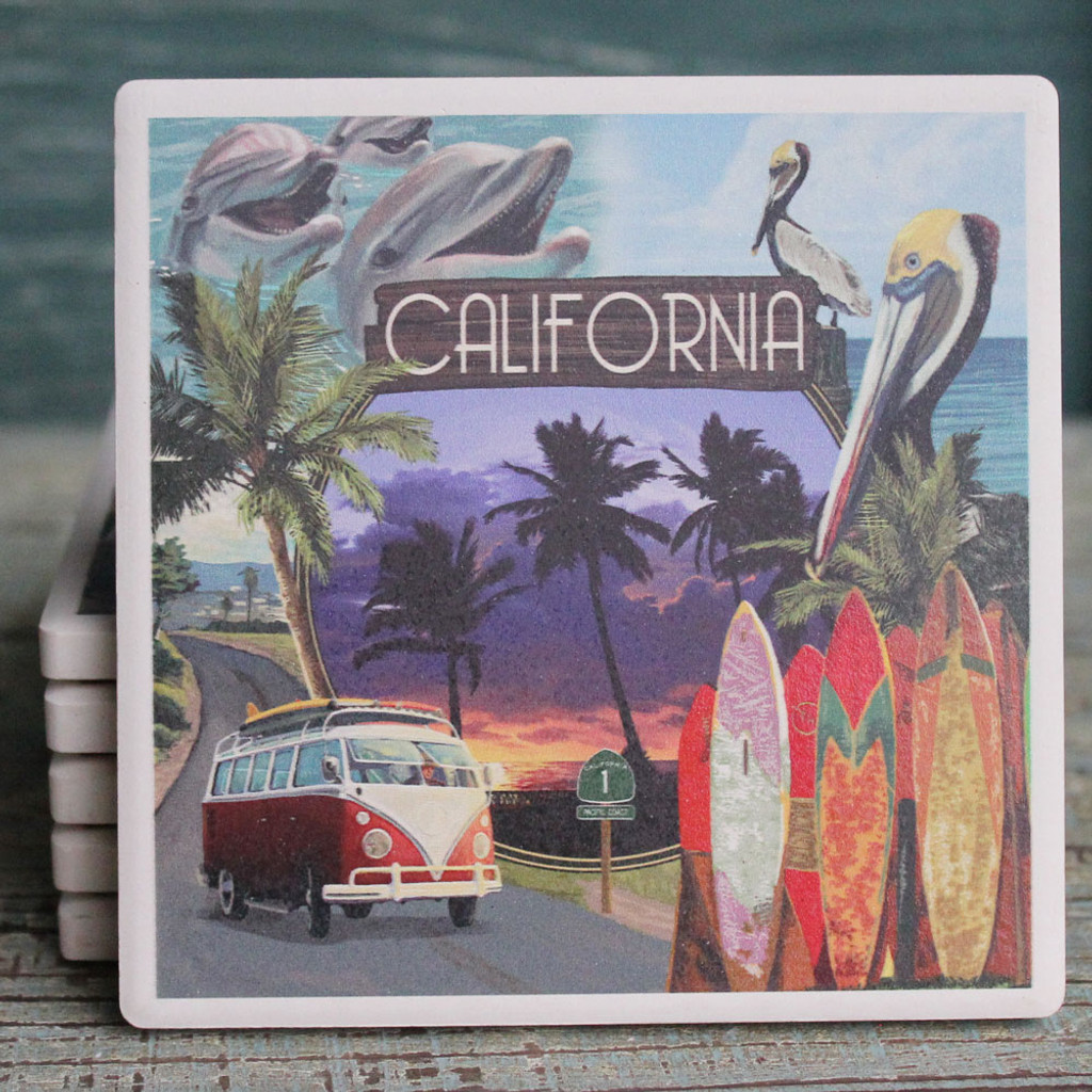 Southern California Montage Coaster