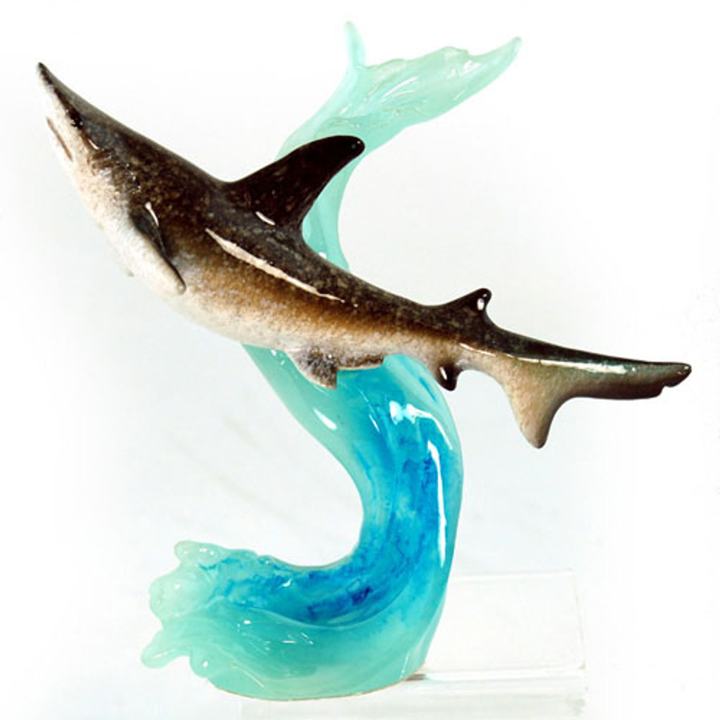 Shark Figurine on Wave