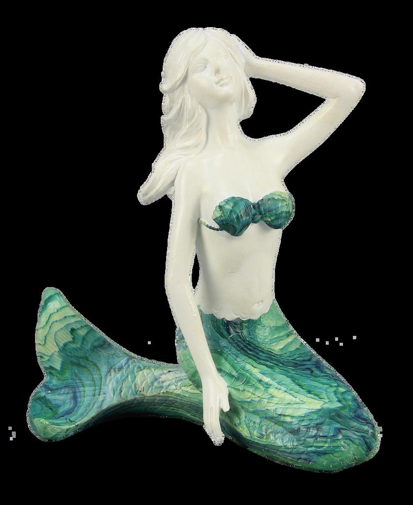 Kneeling Mermaid with Blue/Green Tail
