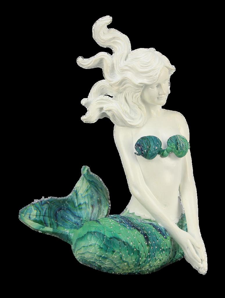 Sitting Mermaid with Swirl Tail