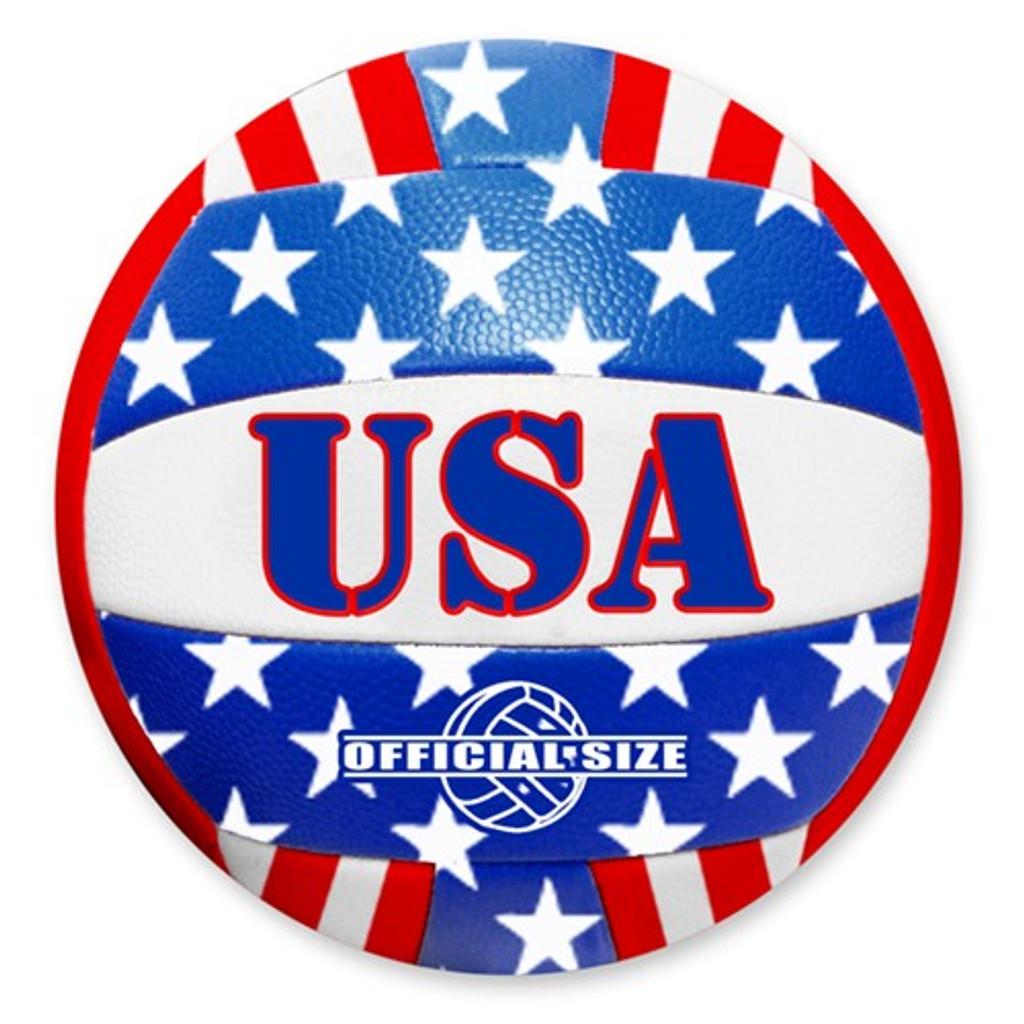USA Flag Volleyball