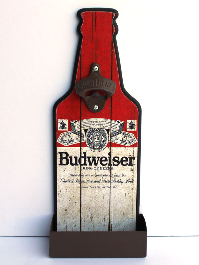 Budweiser Bottle Opener Sign