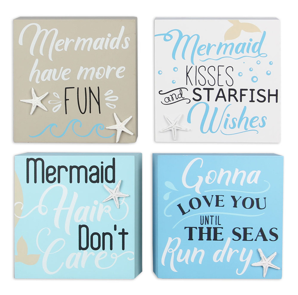 Mermaid Block Signs Set