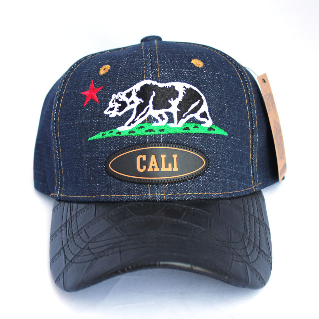 Blue Denim Cali Bear Hat