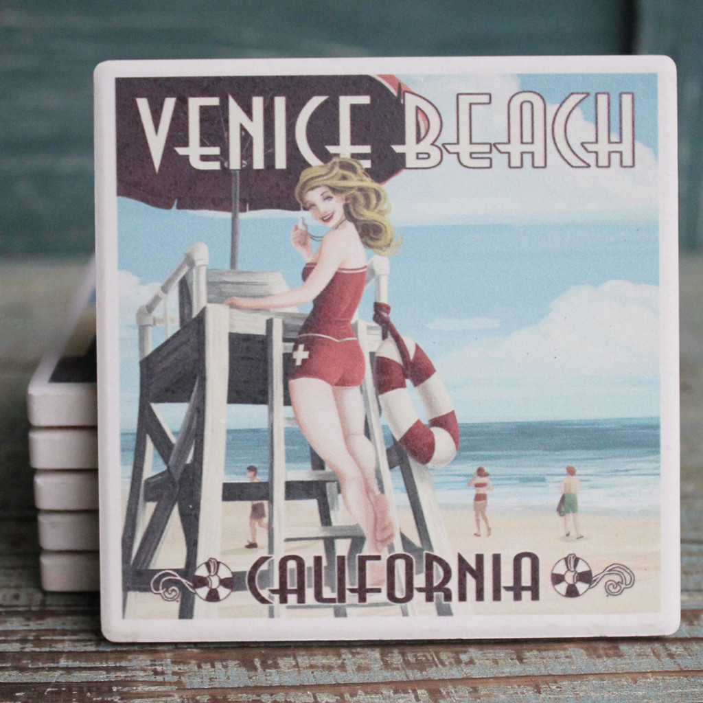Venice Beach Pinup Lifeguard
