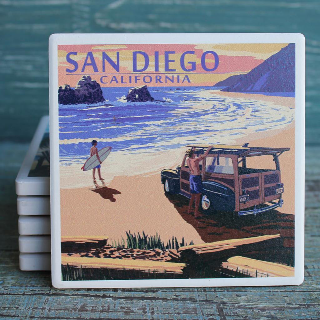 San Diego Woody on the Beach Coaster