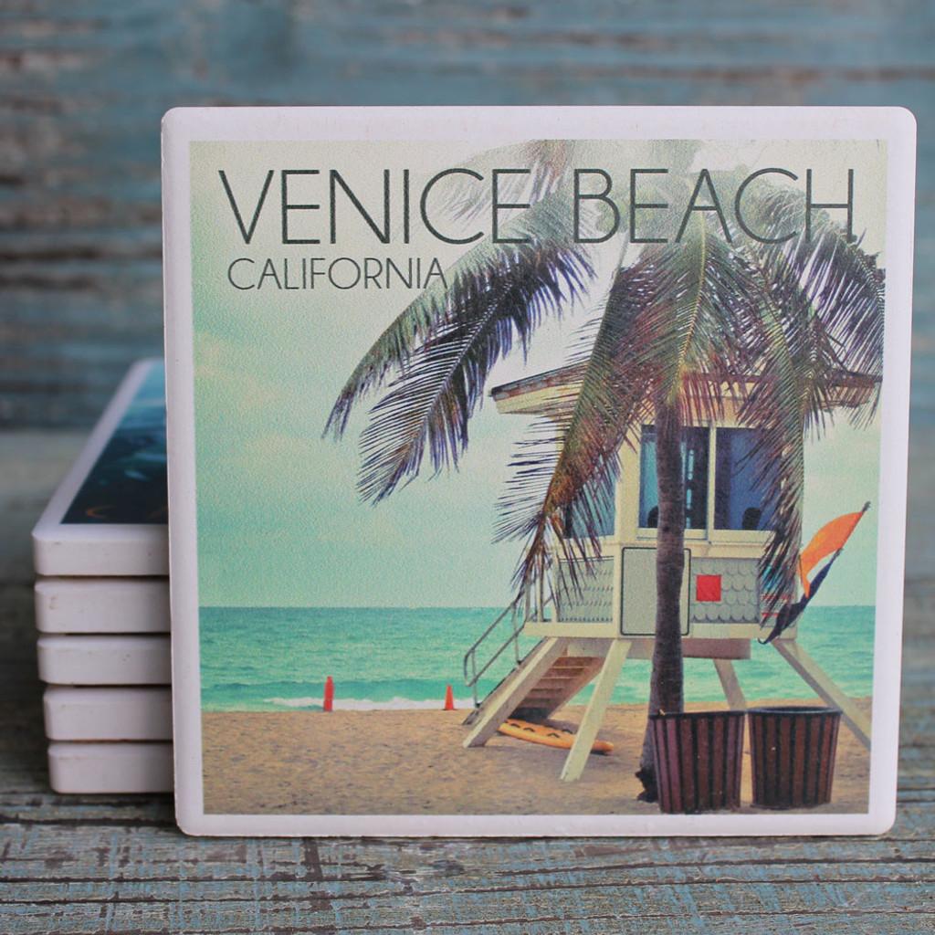 Venice Beach Lifeguard Shack Coaster