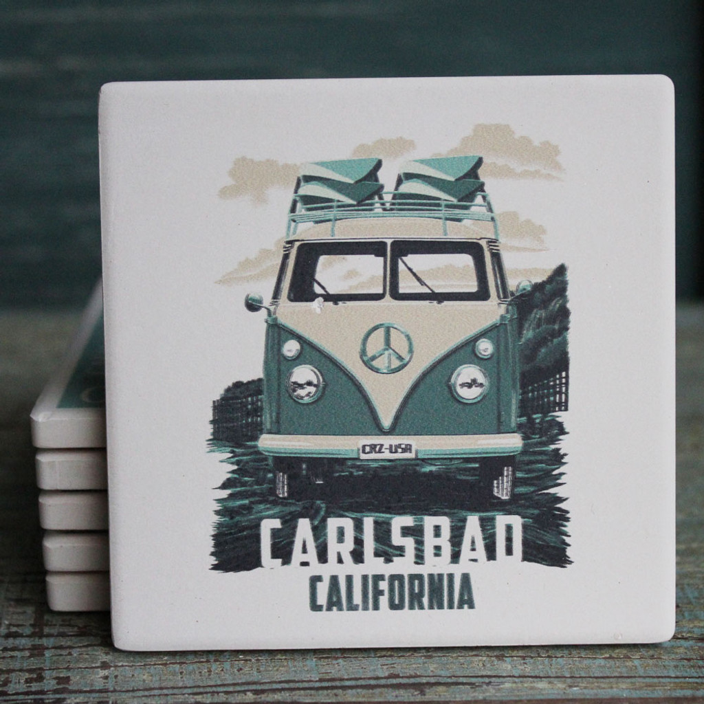 Green VW Van Coaster