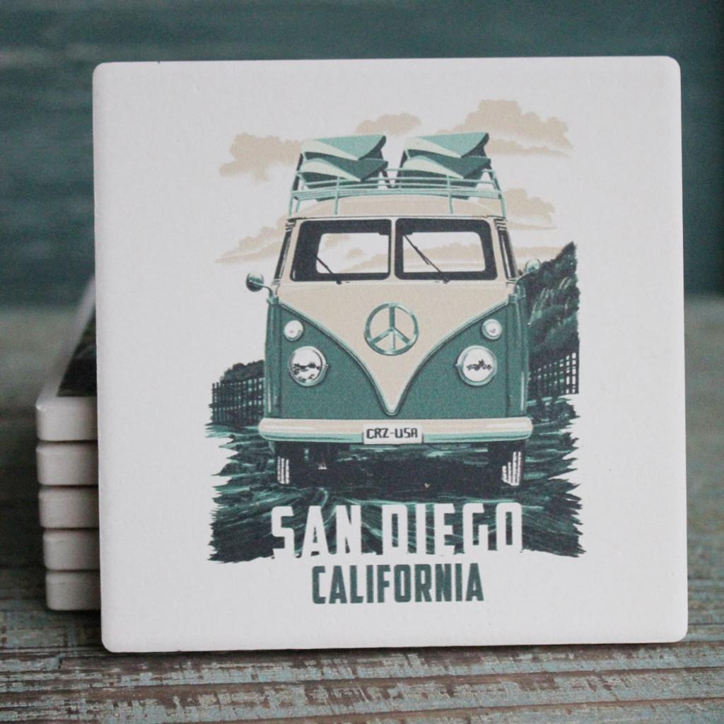 Vw San Diego >> San Diego Green Vw Van Coaster