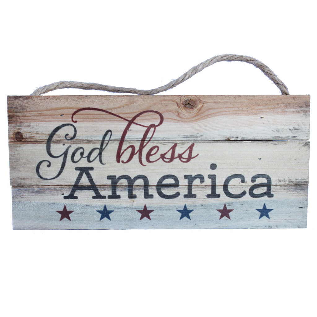 God Bless America Rope Sign