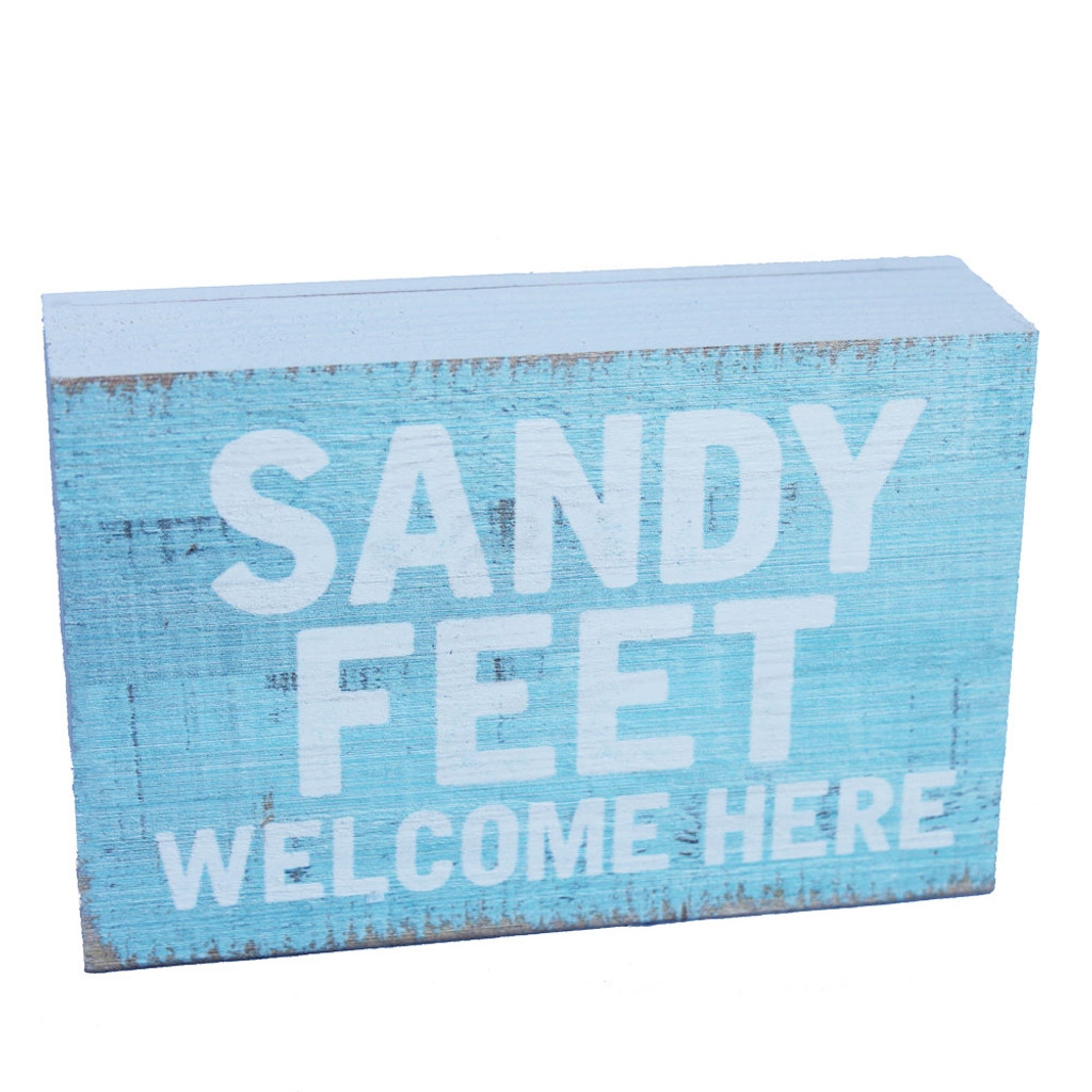 Sandy Feet Welcome Here