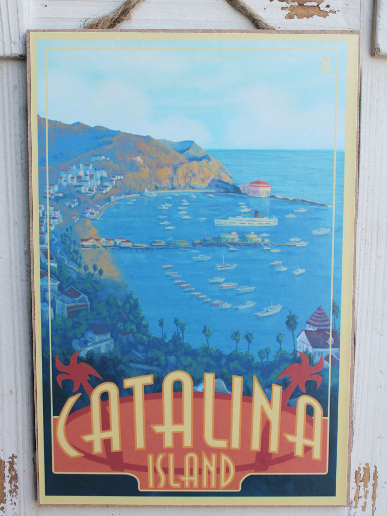 Catalina Island Wood Sign
