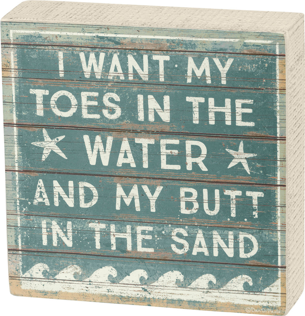 Toes in the Water - Wave Box Sign