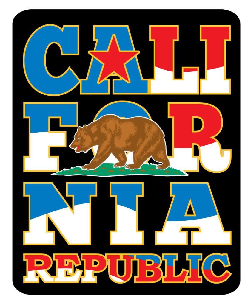 Red White Blue California Sticker