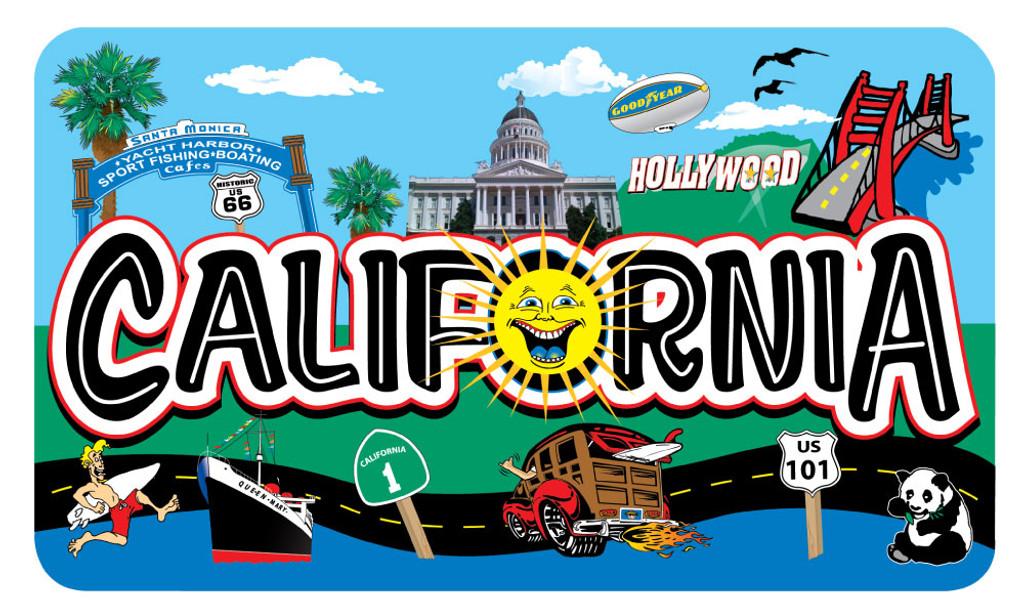 California Clip Arts Sticker