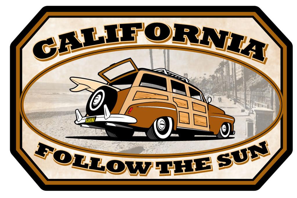 California Woody Sticker