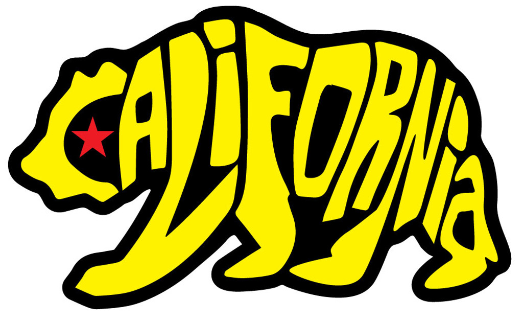 Yellow Bear California Sticker