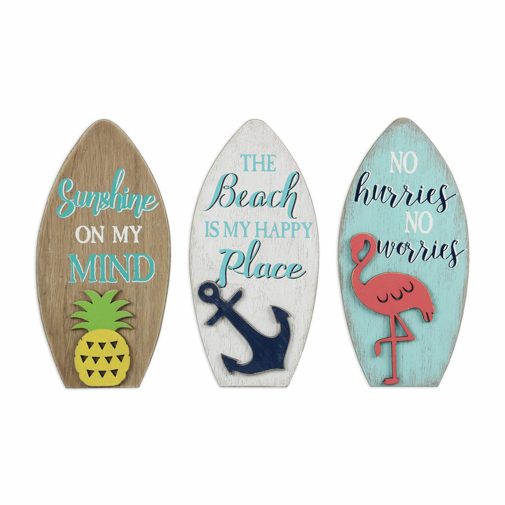 Surfboard Signs - Set of 3