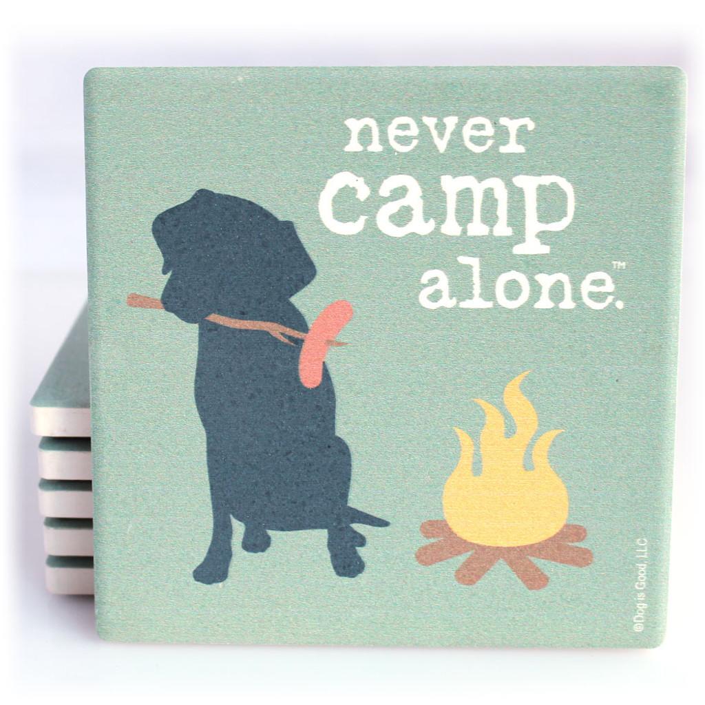 Never Camp Alone Dog Coaster