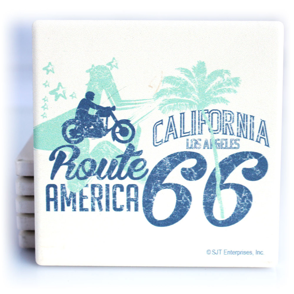 Route 66 Motorcycle Coaster
