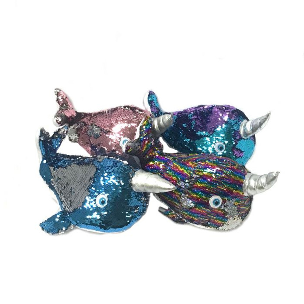 Narwhal Sequin Pillow
