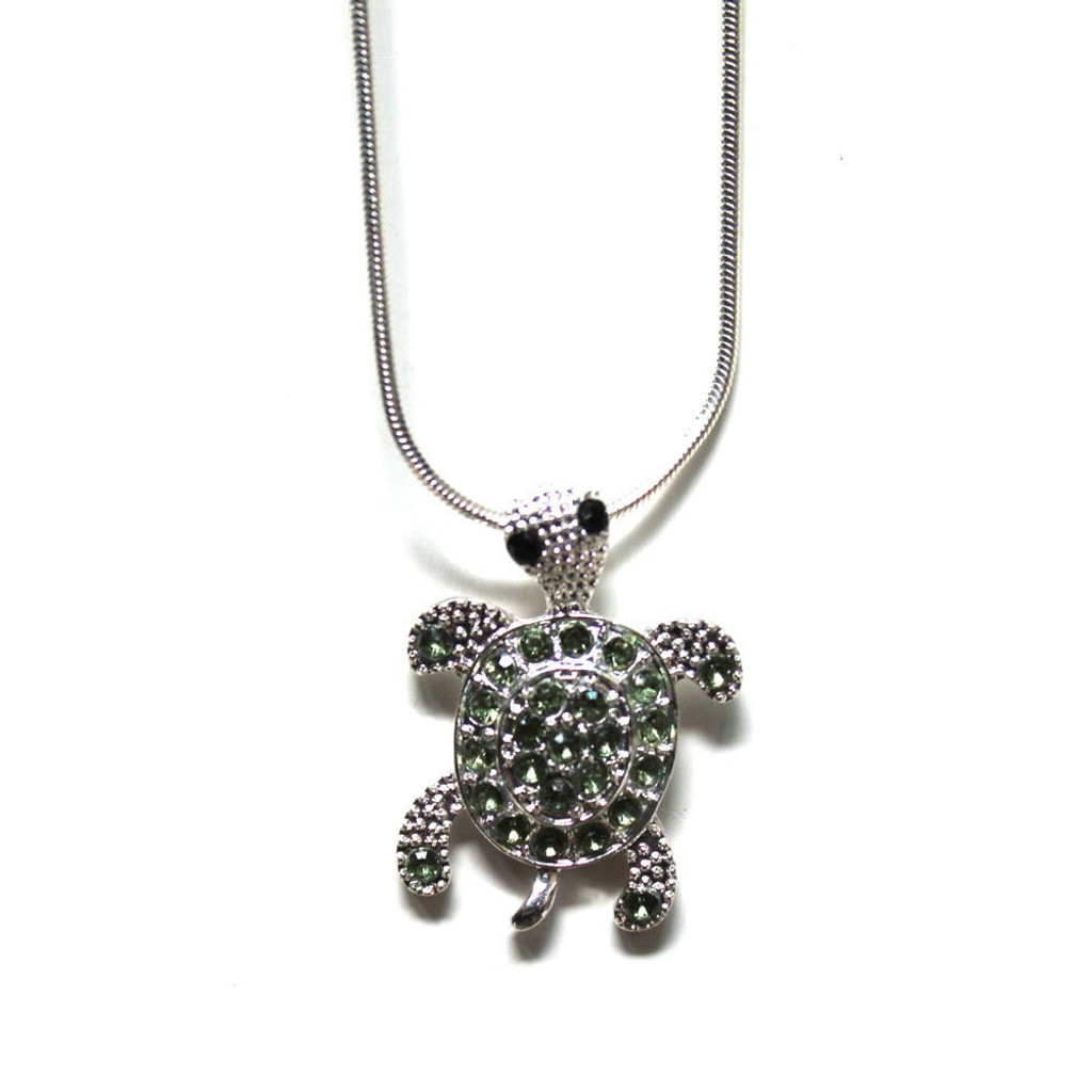 Sea Turtle Rhinestone Necklace
