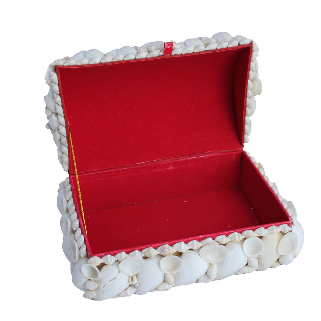Large White Shell Treasure Chest